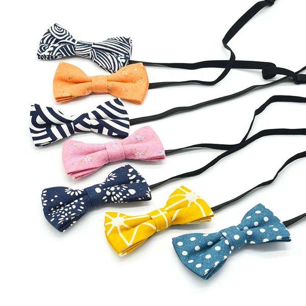 Bambini Bow Tie Ragazzi Ragazze Tie Bambini Scuola 9cm 6cm Bambini Dimensione modello di stampa Casual Fashion Style Bow Misto materiale rotante