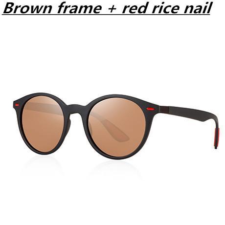 Marco marrón + clavo de arroz rojo