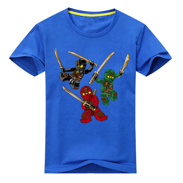 Children Ninjago Clothing For Kids Short Sleeve Tees Tops Clothes Drop Shipping Cartoon T Shirts For Baby Cotton Costume Dx078 J190427