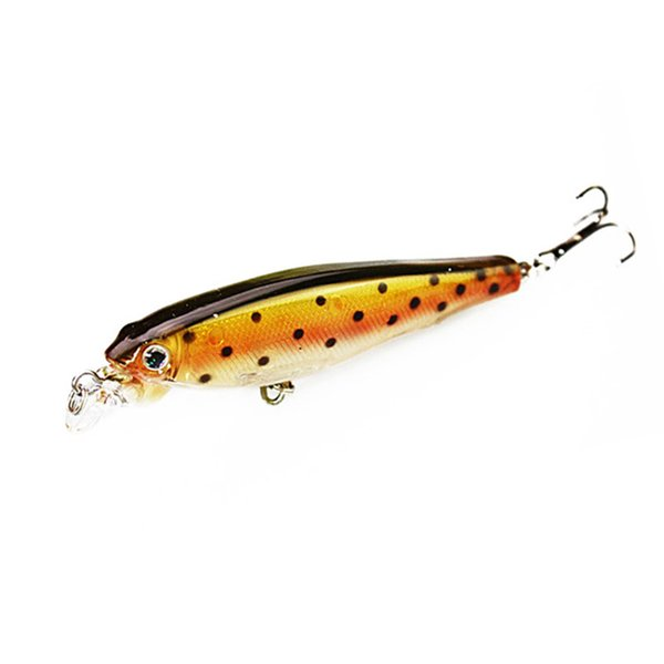 1PCS 8CM 7.5G Minnow Fishing Lure Fishing Lures Hard Fishing Bait Sinking Trout Bait