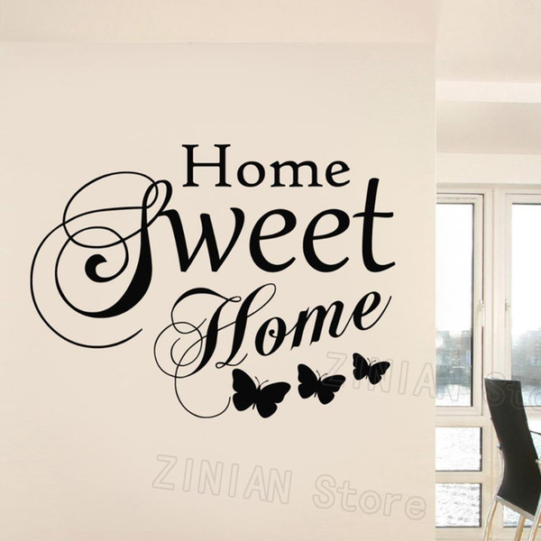 Family Love Vinyl Wall Art Stickers Quotes Home Sweet Home Words Wall Decals Living Room Butterfly Decoration Bedroom Mural