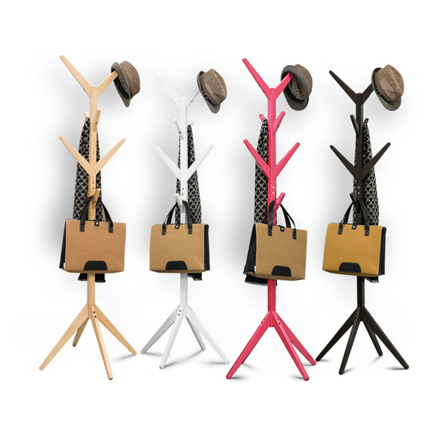 Solid Wood Coatrack Branch Children Fashion Clothes Rack Hook Bedroom Colorful Living room furnitur