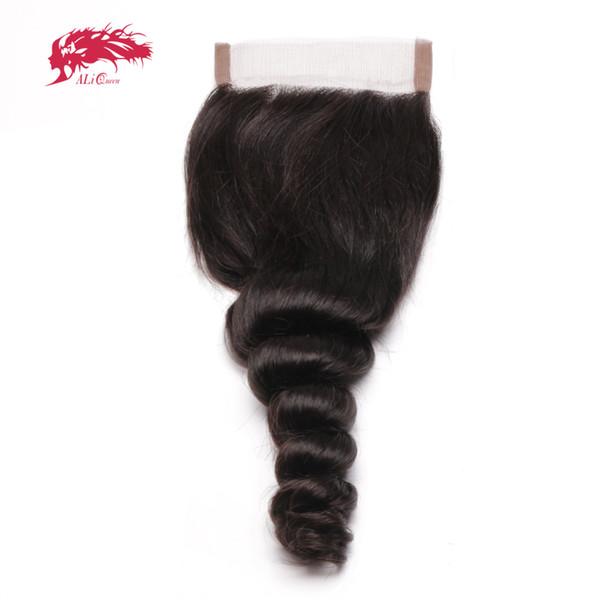 Ali rainha produtos cabelo solto Aceno brasileira Cabelo Remy Natural Color 10
