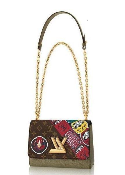 Twist Mm M43497 Women Fashion Shows Shoulder Bags Totes Handbags Top Handles Cross Body Messenger Bags