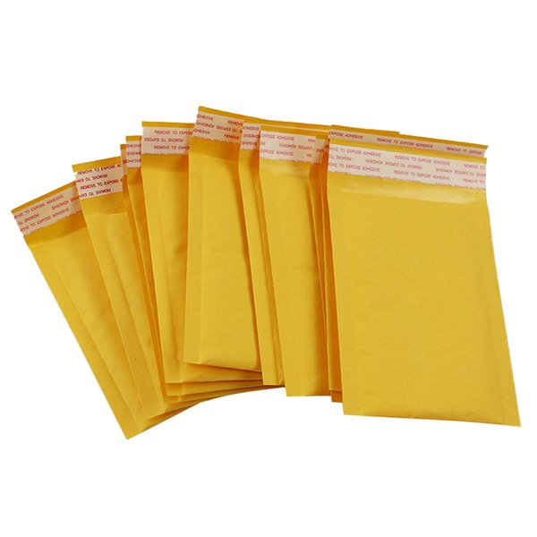10x Bubble Mailers Sobres Acolchados Embalaje Bolsas de Envío Kraft Bubble Mailing Envelope Bags 140 * 160mm
