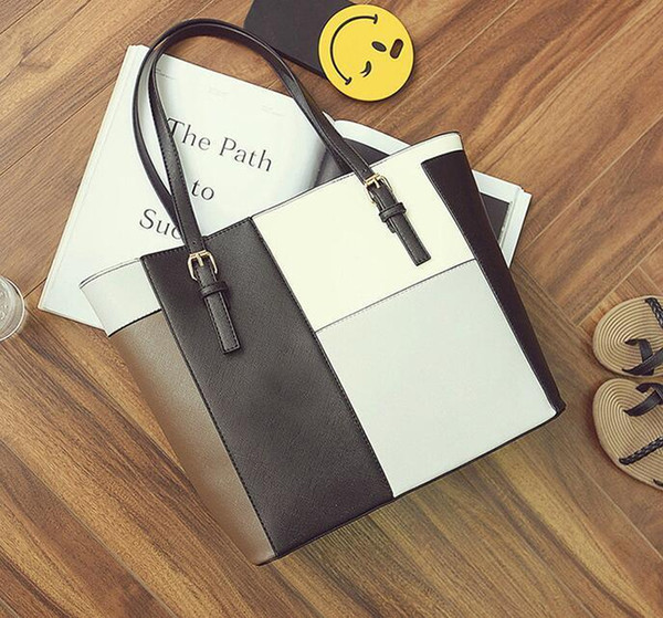 good quality 2019 New Patchwork Shoulder Tote Bags Women Messenger Bags Famous Designers Leather Handbags Large Capacity Women Bags