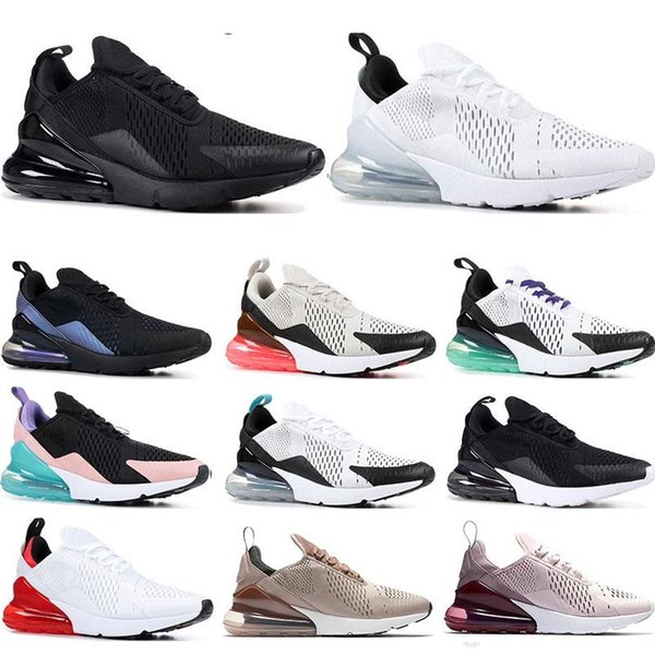 Großhandel 2019 Nike Air Max 270 Off White Vapormax Flyknit Utility Sneakers Throwback Future Triple Schwarz Weiß University Red South Beach Grape