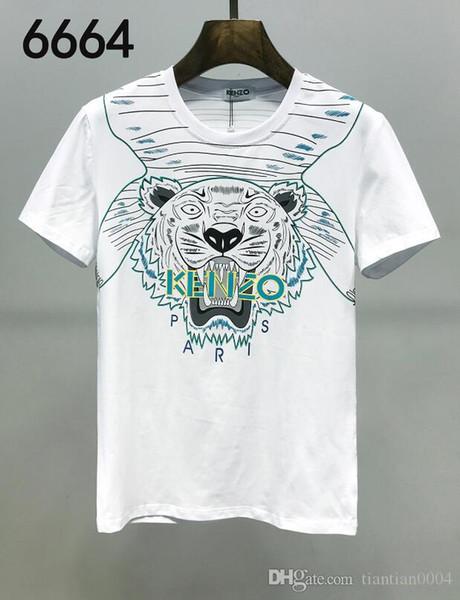2020 equipo del verano del cuello de los hombres Camisetas de mujeres moda casual para hombre de lujo del ajustado de la camisa de manga corta T masculino tapas impresas Tees7