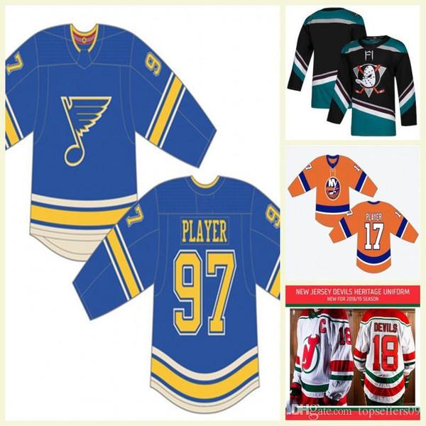 2019 Terzo New York Islanders St.Louis Blues Mighty Ducks Uniforme Philadelphia Flyers Edmonton Oilers personalizzato alternativo Hockey Jersey
