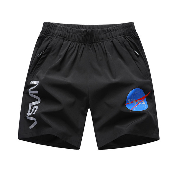 NASA Mens Designer Shorts Black Grey Hip Hop Mens Pants Mens Shorts NASA High Quality Big Size Designer Pants L-6XL