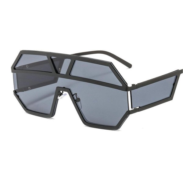 Escudo Vintage NINCL extragrandes Sunglasses Mulheres Fashion Square Sun Glasses Metal Frame óculos de sol Mulher Big Goggle NX