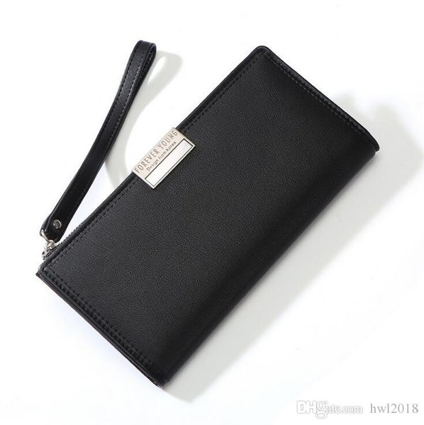 Women's new high-quality self-owned brand wallet fashion PU leather hand strap bag Korean version of the zipper