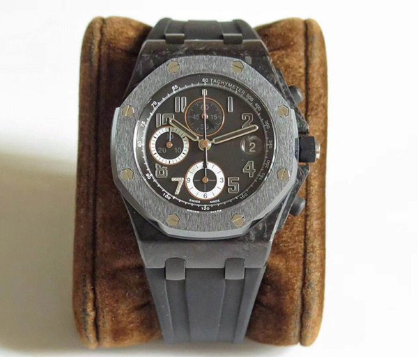 super cool black carbon fiber case and bezel man automatic chronograph best quality men watches in stock with good price