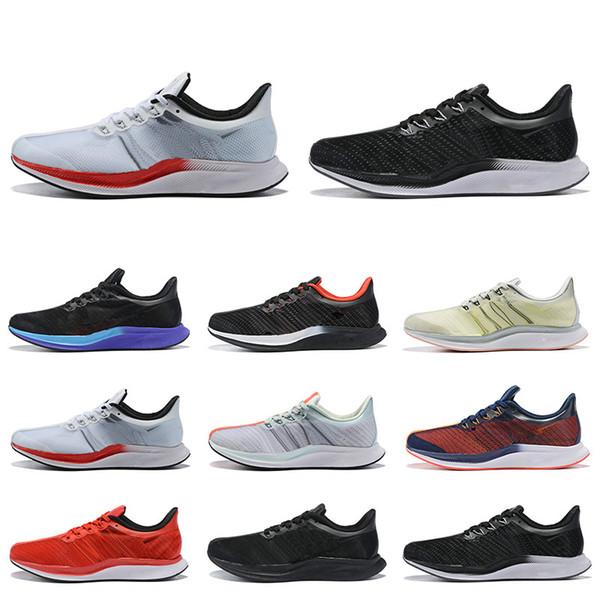 2019 Zoom Pegasus Turbo Gris chaud à peine punch Noir Blanc Chaussures de course à bas prix Hommes Femmes React Zoom X Pegasus 35 formateurs Zapatillaes 40-45