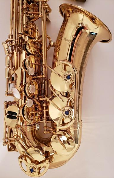 YANAGISAWA A-990U Saxofone alto Latão Ouro Laca Eb Tune Saxofone Instrumento Musical com Estojo Bocal Frete Grátis