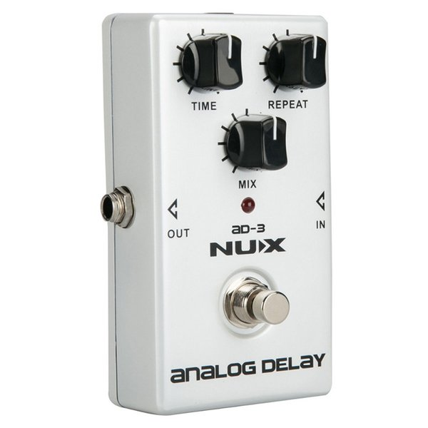 NUX AD-3 Guitar Effects Pedal Analog Delay Effect Low Noise BBD Delay Circuit 20-300ms Delay time Warm and Smooth relic guitar