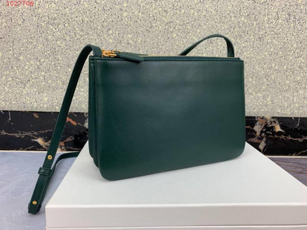 designer brand high quality good price Three layer Imported single shoulder detachable genuine Leather envelope with crossarm Female bag