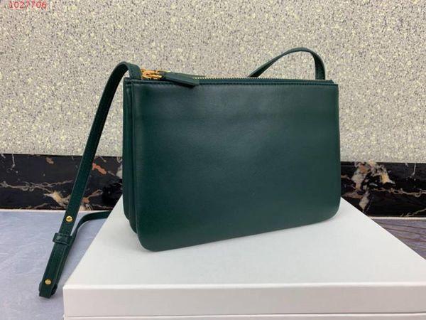 Tasarımcı marka yüksek kalite iyi fiyat Üç katmanlı İthal crossarm ile tek omuz ayrılabilir hakiki Deri zarf Kadın çantası