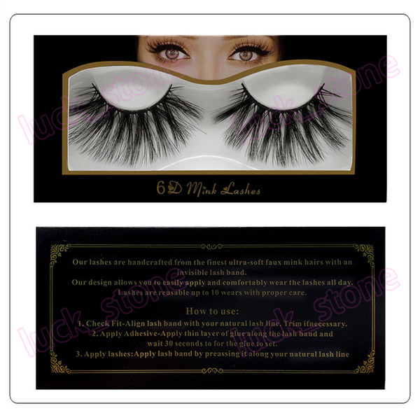 no logo 25mm 6D mink false eyelashes set 10 style design cross style beauty makeup accept your logo print