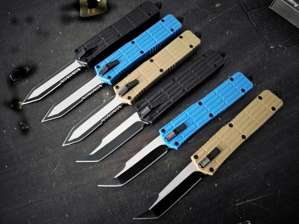 autoTF Eisenrüstung 440C Klinge Double Action Jagd Klapp Feststehende Klinge Taschenmesser Überlebensmesser Weihnachtsgeschenk für Männer