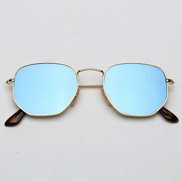 001 / 9O ouro-luz azul espelho