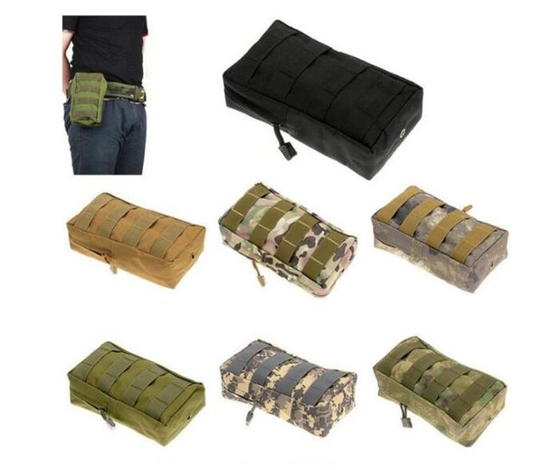 Outdoor Bags Tactical MOLLE PALS Modular Waist Bag Pouch Utility Pouch Magazine Pouch Mag Accessory Medic Tool Pack