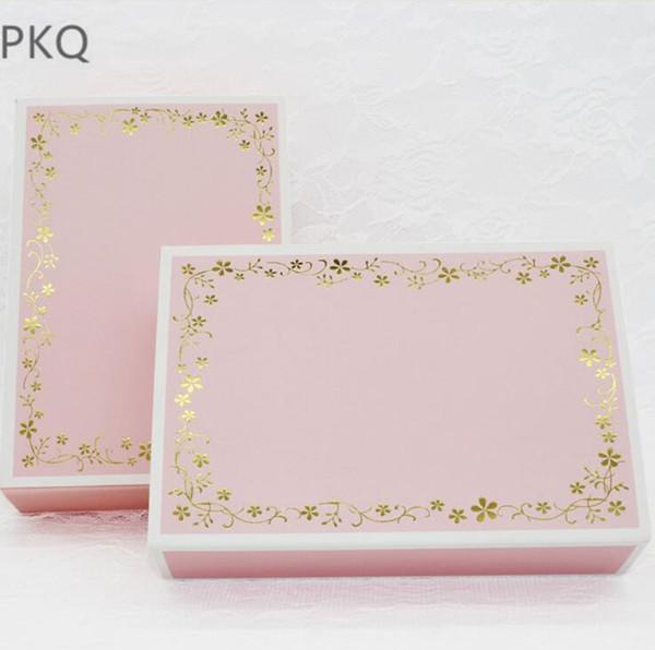 10 шт. / лот розовый горячего тиснения картонная коробка ящик форма бумаги подарочная коробка пакет для свадьбы выступает ремесло мыло упаковка