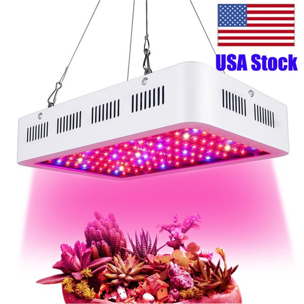 USA Stock High Power 1000W led grow Lights Full Spectrum 380NM-800NM 1200W 1500W plant grow lights Box square double Red Blue 10W Chip