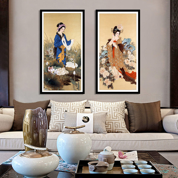 wholesale Diamond Painting Chinese Ancient Beauty Home Decor Picture of Rhinestones Full Round Diamond Embroidery Handmade Gift