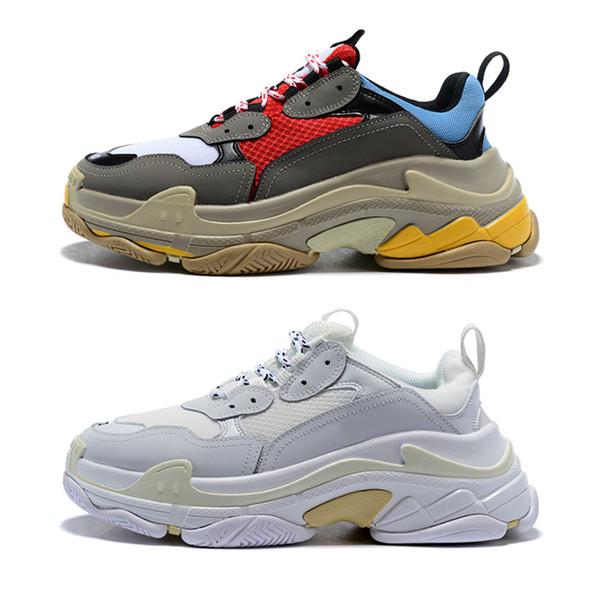 Triple-s designer Paris 17FW Triple s Sneakers for men women black red white green Casual Dad Shoes tennis increasing sneakers 36-45