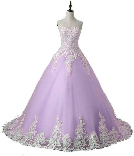 2019 Fashion Sweetheart Appliques Lace Ball Gown Quinceanera Dresses Plus Size Sweet 16 Dresses Debutante 15 Year Formal Party Dress BQ170