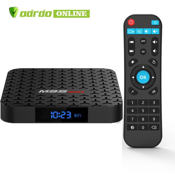 New M9S MAX Android 7.1 TV BOX 2GB 16GB Amlogic S905W Quad Core Ultra HD H.265 4K Stream Media Player Better H96 X96 T95Z TX3 TX6