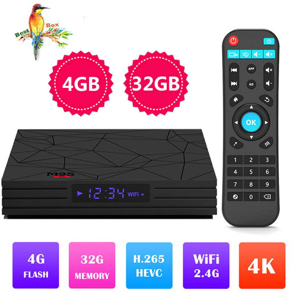Factory Best seller M9S Y2 4GB 32GB RK3328 Quad Core Android 8.1 4K TV BOX 2.4G WIFI USB 3.0 Media Player Better A5X MAX X96 MAX T9