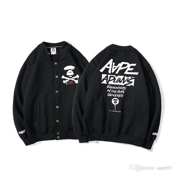 bape aape Aape Yeni Geliş Erkek Hoodie ceket Erkek Yüksek Kalite Hoodie Hip Hop Erkekler Kadınlar Tasarımcı AP Beyzbol Kazak Uzun seelve