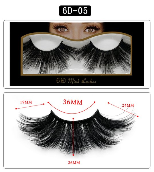 6D-05 NEW 25mm False Eyelashes 5d Mink Hair 6d Stereo Messy Thick Eyelashes Europe and The United States 10 Options 11.2*5.5*1.6cm Single