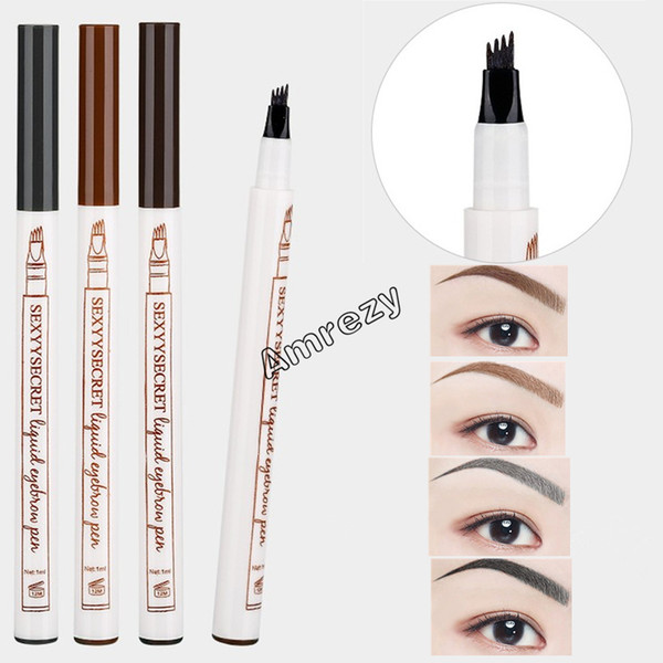 Top Quality Hot Liquid Eyebrow Pencil Waterproof Tattoo Super Water-proof Eye Brow Pens drop ship DHL Free Shipping