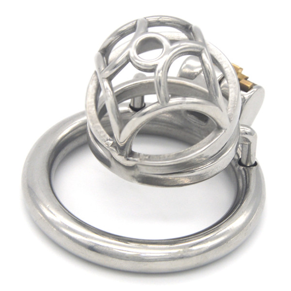 Stainless Steel Round-shaped Cockrings Male Chastity Device Cock Cage Penis Lock Metal Small Chastity Cages Sex Toys for Men G244D