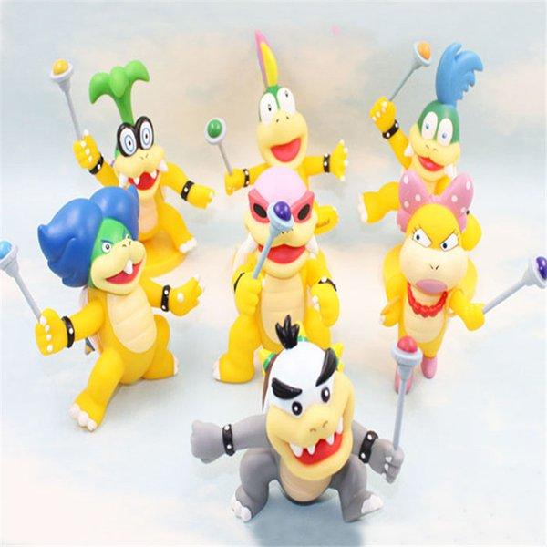 Rare Collection 10cm Super Mario Bros Koopaling Kids Iggy Ludwig Roy Wendy Lemmy Larry Action Figure Toy Y190604