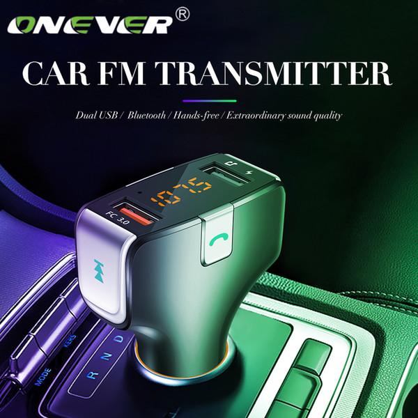 Transmetteur FM Lecteur MP3 de voiture sans fil 87,5 à 108 Mhz Bluetooth appelant Auto Multifonctionnel HiFi Stéréo 2 Ports Chargeur Rapide