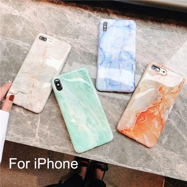 Custodia in silicone di lusso in marmo per iPhone XS Max X XR 7 8 6 6S Plus Custodia morbida in TPU cover posteriore per iPhone 8 7 Plus iPhone X / XS max