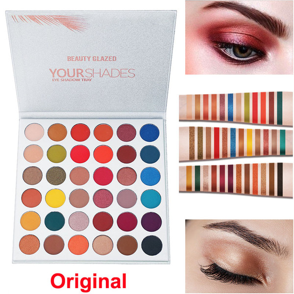 Makeup eye hadow palette beauty glazed your hadow 36 color eye hadow matte nude himmer eye hadow palette co metic dhl hipping