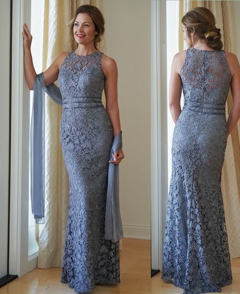 2019 Elegant Sheath Mother of the Bride Dresses Sleeveless Custom Made Fashion Mother's Dress Mother Formal Wear for Wedding