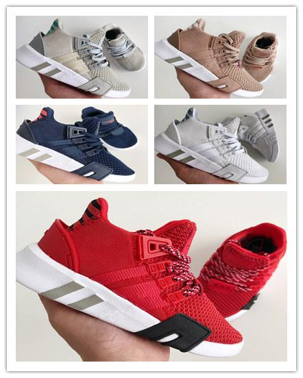 (box)2019 kids EQT Bask Support Future EQT Running Shoes Triple White black pink kids Womens Sports Knit Chaussures Sneakers Trainers
