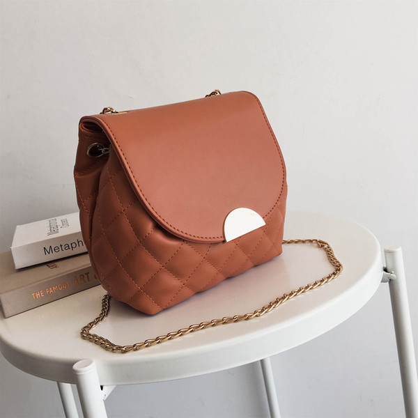 2019 Moda borse donna Tracolla Messenger bag catena spalla moda in pelle donna Messenger bag yazi / 5