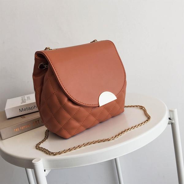 2019 Moda bolsos damas Plaid Messenger bag cadena hombro moda cuero señoras Messenger bag yazi / 5