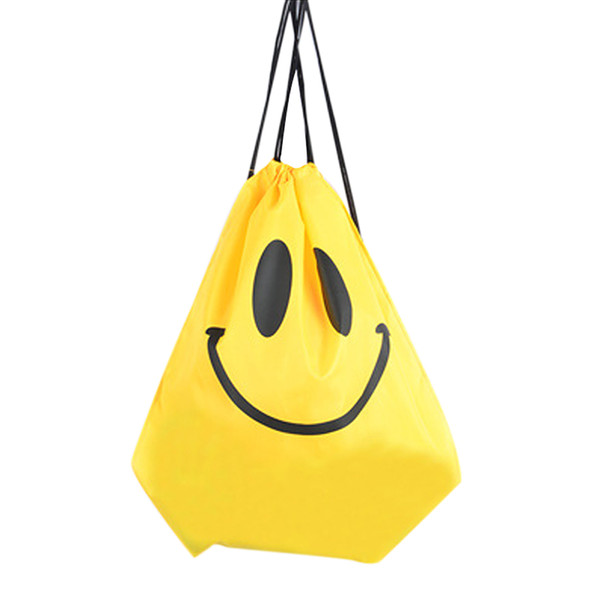 2019 New Fashion Women Men Smile Face /cartoon Fish Print Travel Softback Drawstring Bag Fab Women Bag