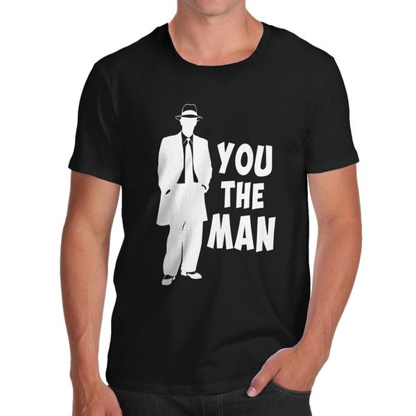 T-shirt drôle de fantaisie en coton You The Man pour hommes, t-shirt grande taille