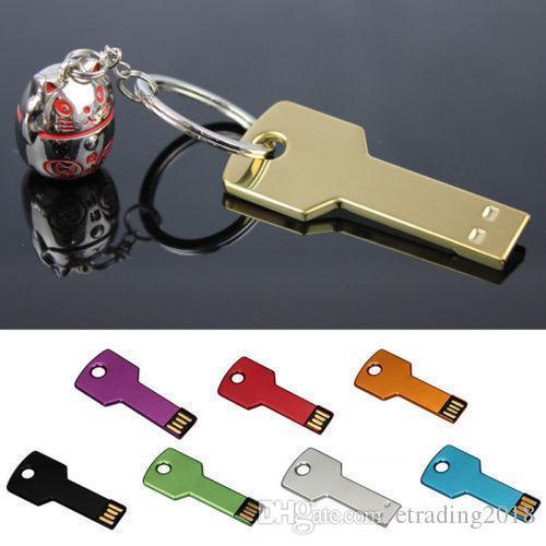 Llave de 4GB 8GB 32GB 64GB Memoria USB Memoria USB Metal llavero U disco
