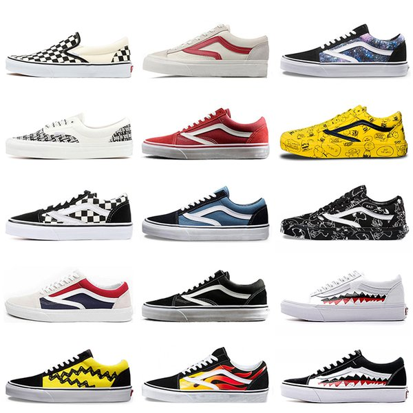Skateboard Sports off Women Mens Casual Shoes Fear Of God old skool Canvas Shoes Yacht Club Revenge X Storm Black White Sports Sneakers