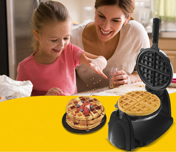 220V 180 Rotated Waffle machine multifunction household electric double-sided baking pan heating automatic muffin machine Waffle Makers